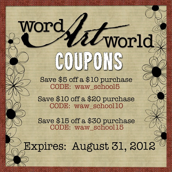 Word Art World Hot Coupon Codes From Word Art World
