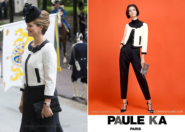 Princess Madeleine of Sweden in Paule Ka Wool Tricotine Jacket