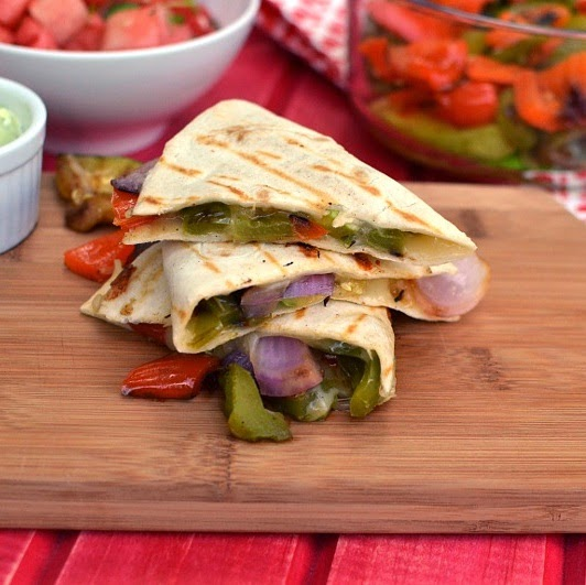 Cook's Hideout: Grilled Vegetable Quesadilla