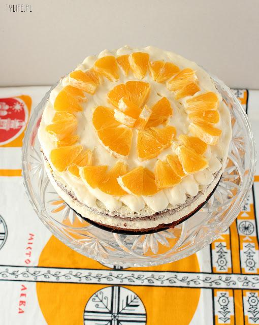 orange mousse cake,