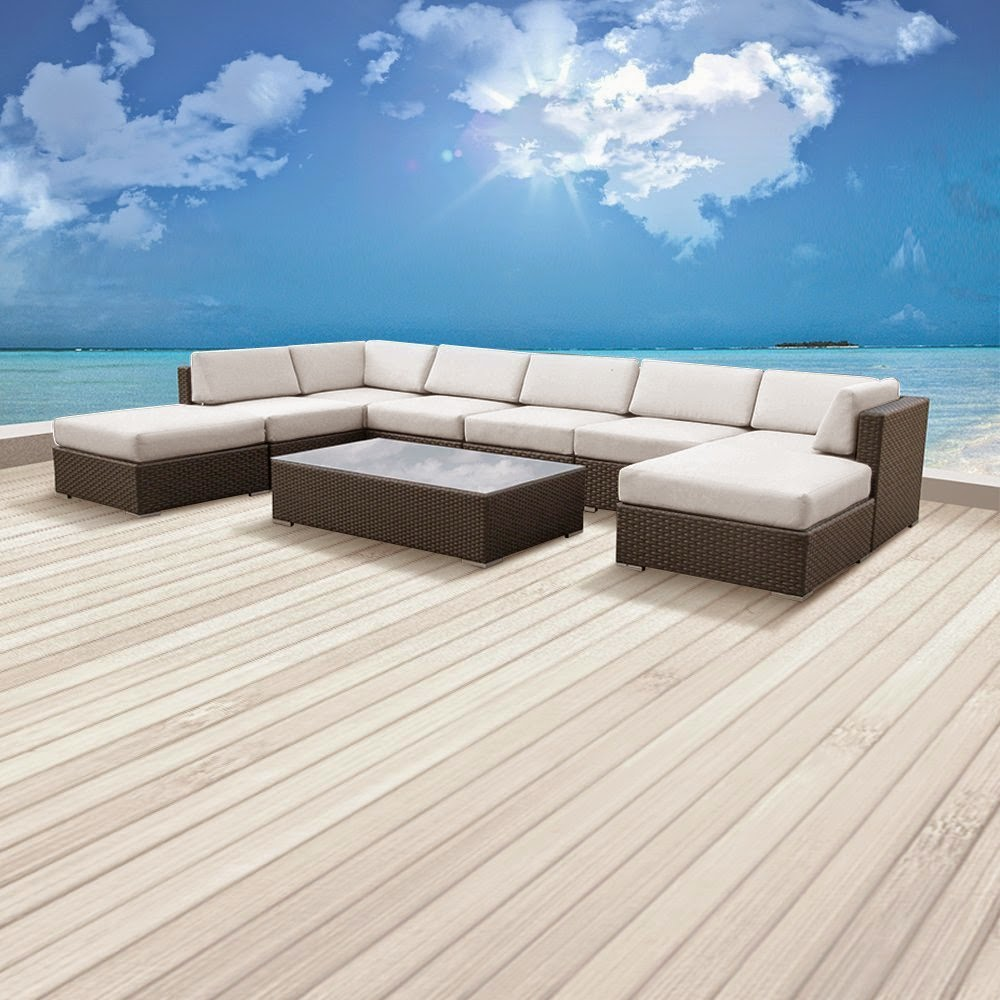 Luxxella outdoor patio sofa sectional furniture outdoor for Outdoor patio couch set