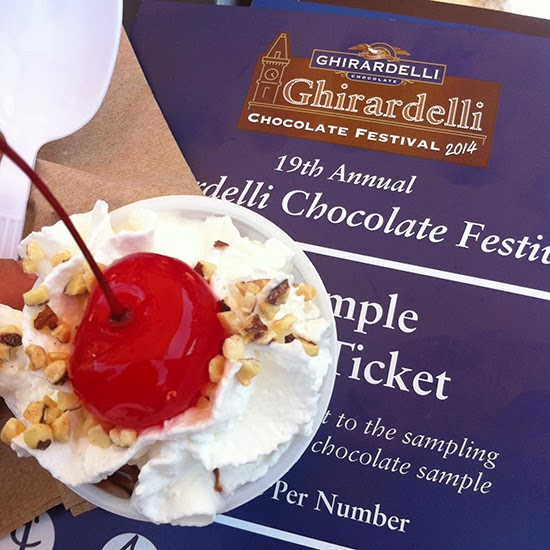 Ghirardelli Hot Fudge Sundae Sample