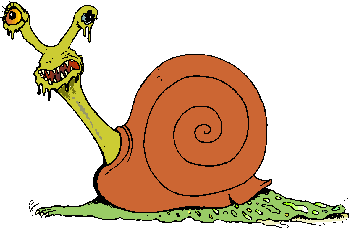 Scary Snail Free Clipart