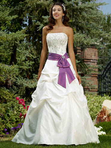 white and purple bridal gown It will certainly draw the most of the