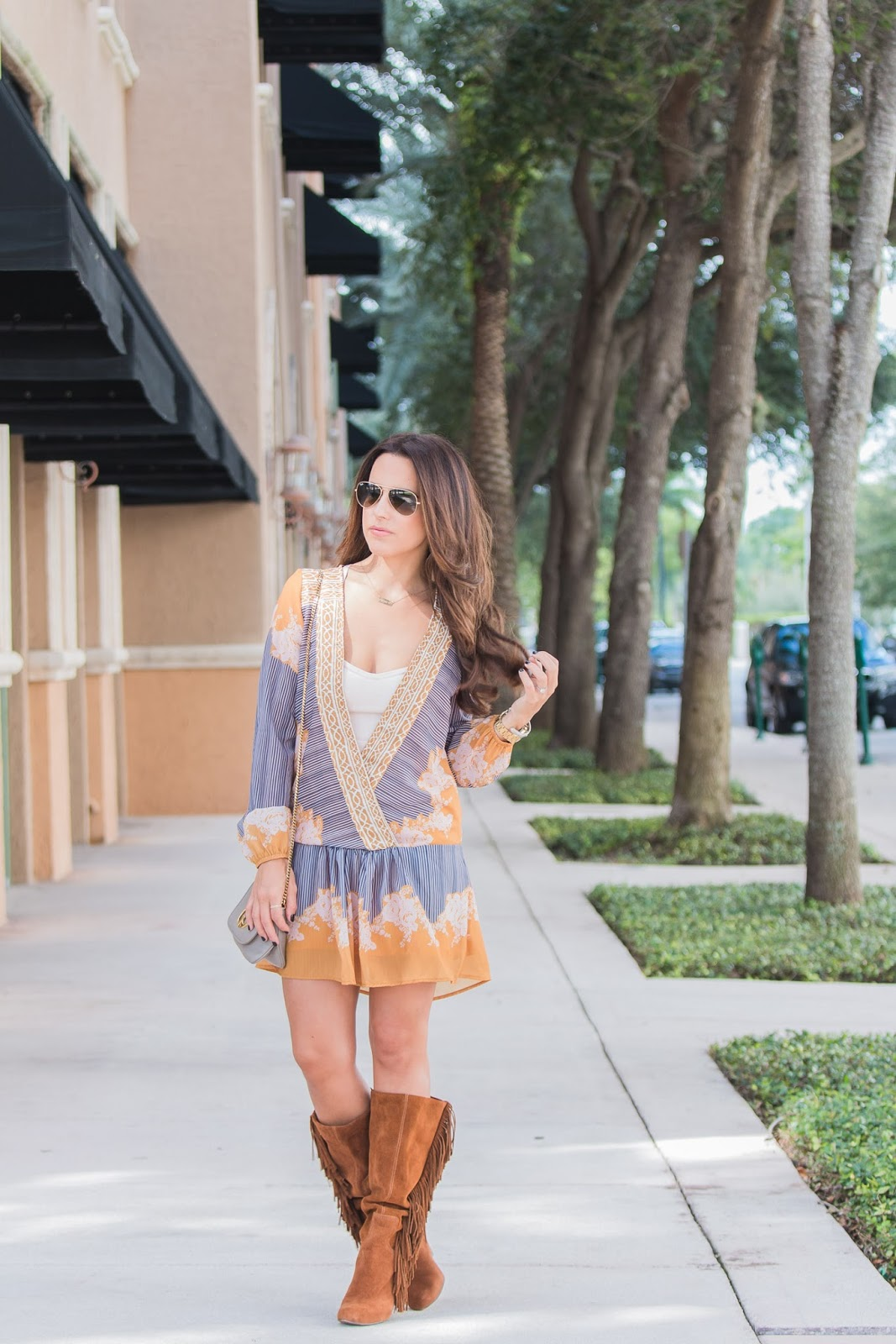 Fringe-Boots-Fall-Style-Boho-Dress