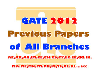 Gate 2012 Previous Papers of All Branches