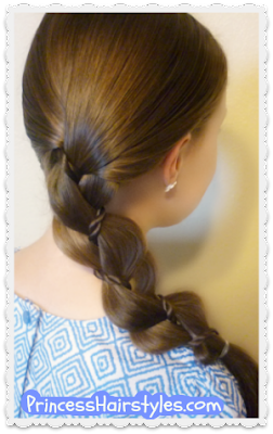 Braid with a twist, simple hair tutorial