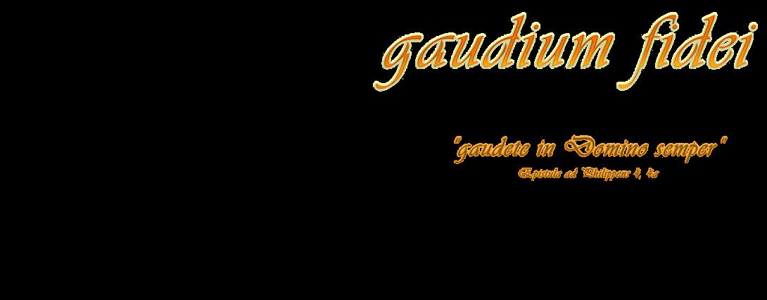 gaudium fidei