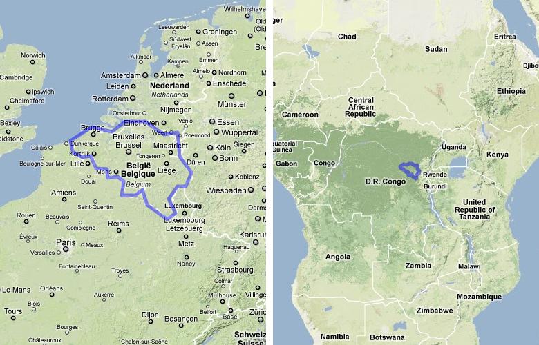 Belgium United States  city pictures gallery : Belgium compared to Congo and Rwanda