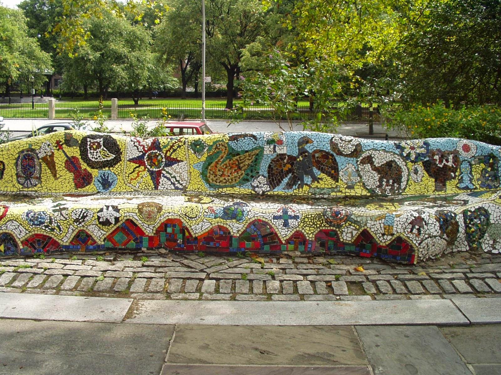 Gaudi in new york a broken tile mosaic masterpiece in riverside gaudi in new york a broken tile mosaic masterpiece in riverside park dailygadgetfo Gallery