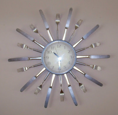 sunburst silverware clock