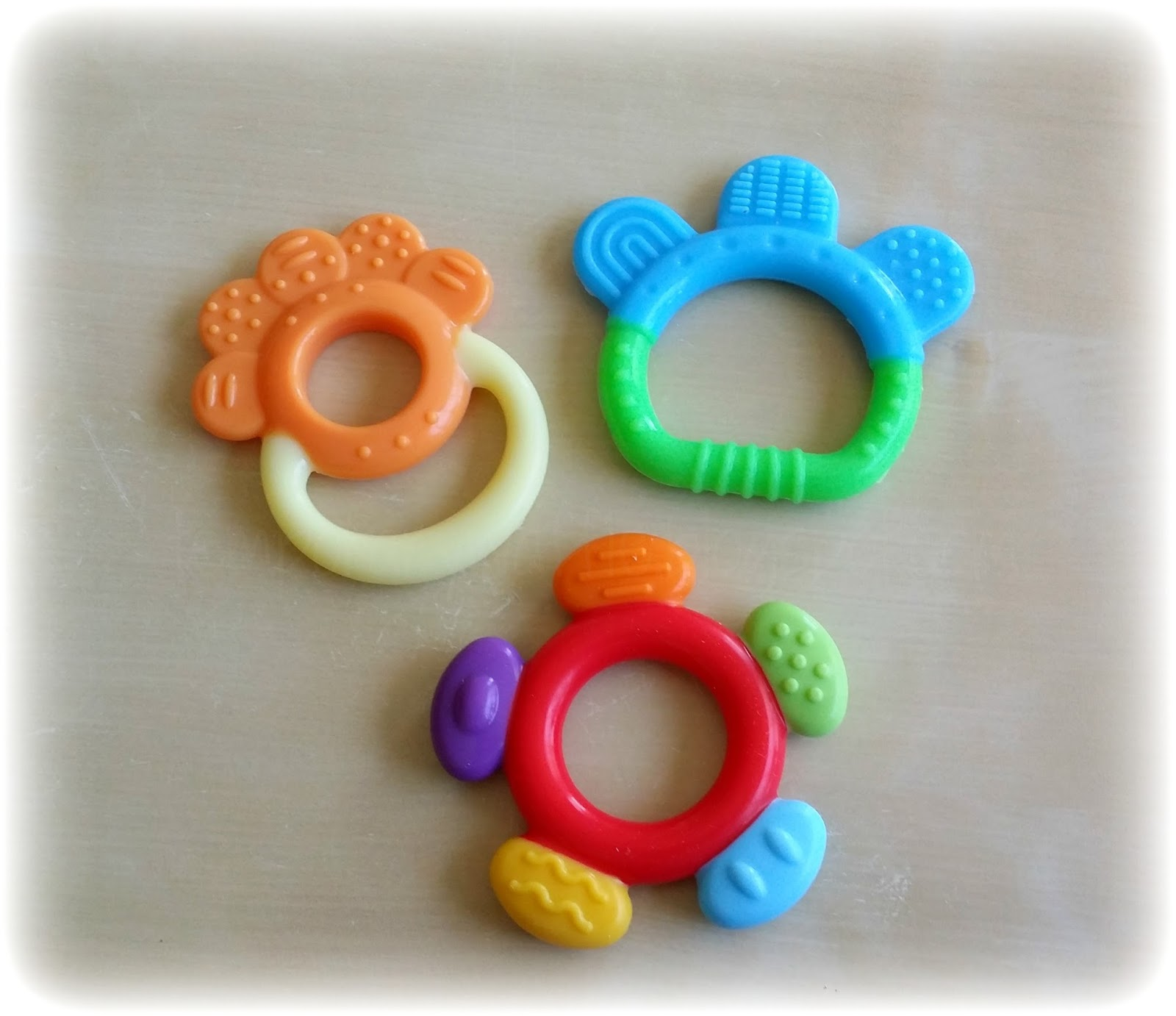 Temporary Waffle Colorful and Fun Baby Teething Reliever Toys