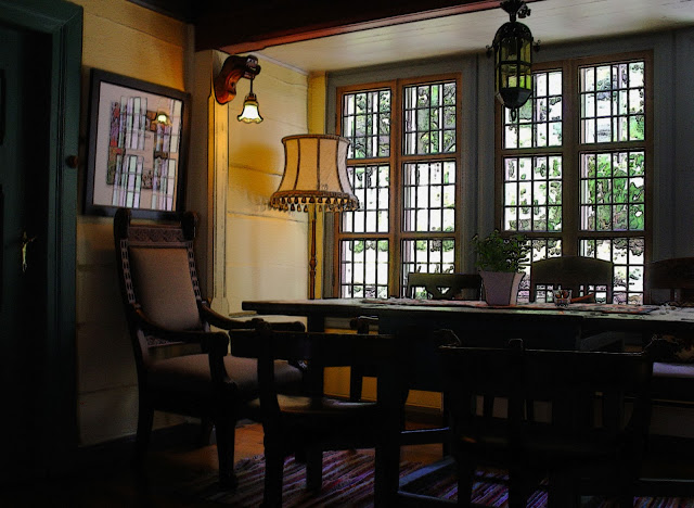 Utne Hotel dining room.