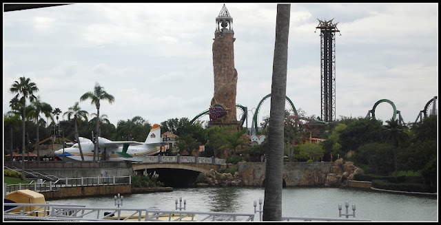looking out over the Islands of Adventure
