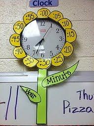 clock looks like flower