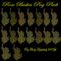 PNG Tubes, fantasy rose bushes, digital roses, digital scrapbooking elements, Rose PNG Tubes