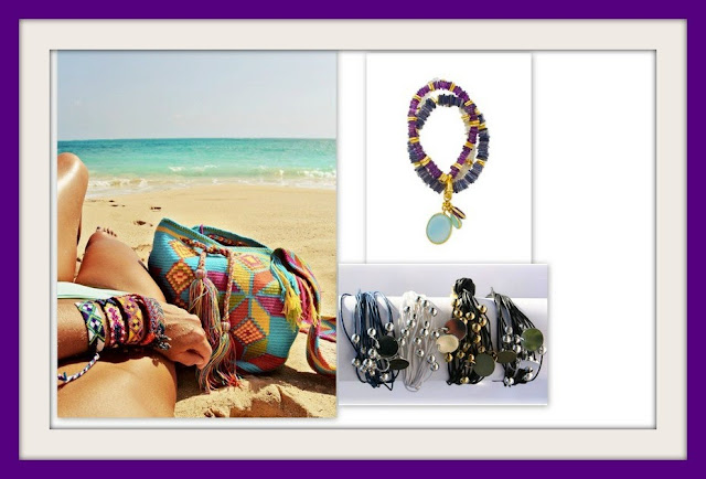 cuffs, summer jewelry, summer jewellery, gemstones, purple jewelry,
