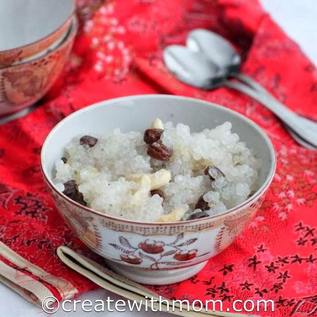 sago coconut milk pudding