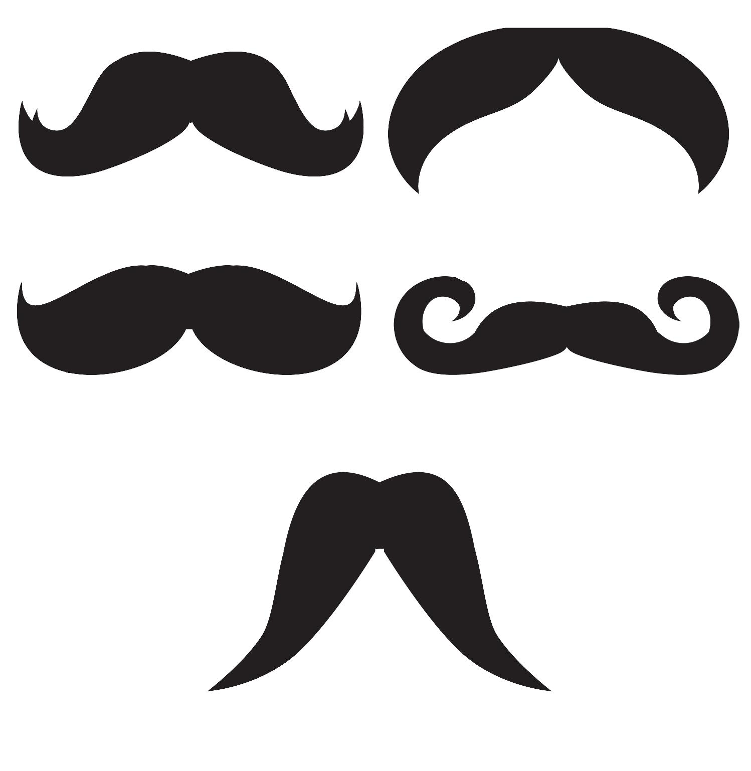Cr pe chignon moustache party for Mustach template
