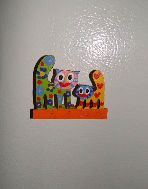 Kitty Cats Fridge Magnet from Prague