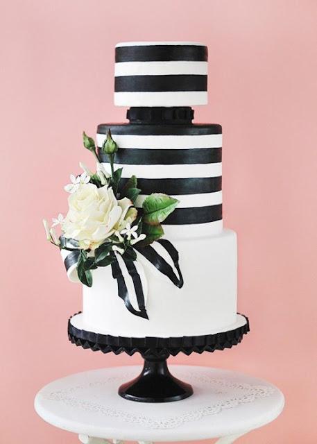Kate Spade Inspired Wedding Cake Photo