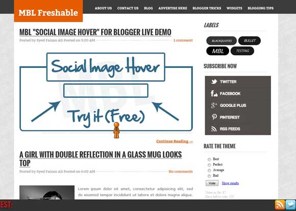MBL Freshable Blogger Template