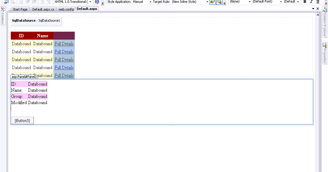 Kumaran1987 how to hide gridview and show the selected for Hide tr in table