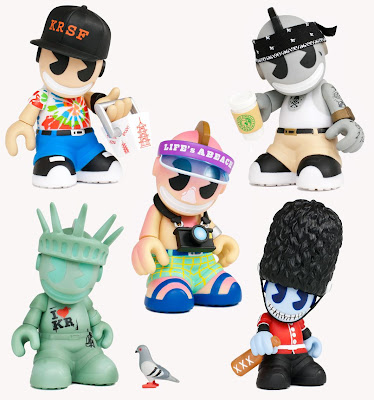 Kidrobot City 'Bots 3 Inch Mini Vinyl Figures - San Francisco, Los Angeles, Miami, New York & London