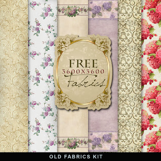 Freebies Old Style Fabrics Kit