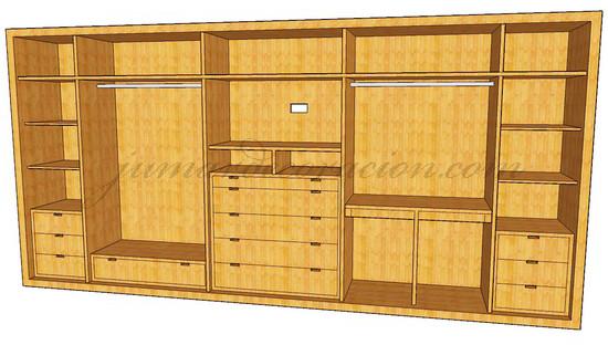 Jumar decoraci n armario empotrado 5 metros con aspas - Precio armario empotrado 2 metros ...