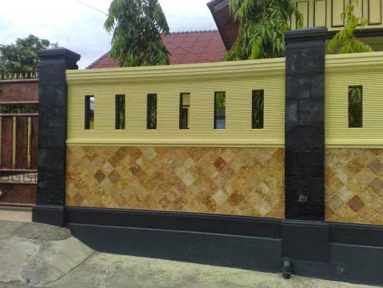 Pagar Rumah Minimalis Dari Batu ALam