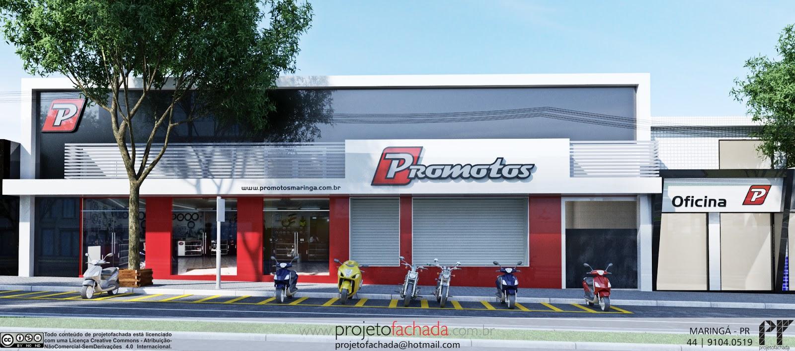 Projeto fachada comunica o visual 44 for Oficinas modernas fachadas