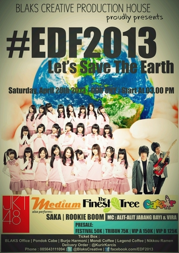 jkt48 at earth day fest uny jojga 20-04-2013