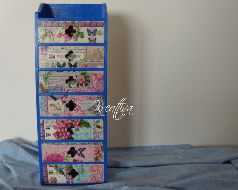 come realizzare una cassettiera in decoupage
