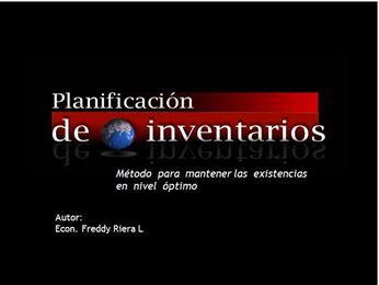 """Adquiera """"PLANIFICACIÓN DE INVENTARIOS. MÉTODO PARA MANTENER EXISTENCIAS EN NIVEL ÓPTIMO"""""""