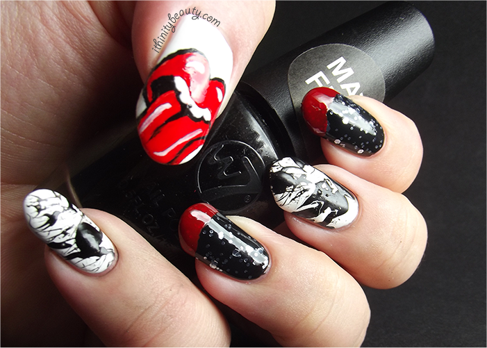 Paint it black the rolling stones freehand and splatter paint it black the rolling stones freehand and splatter ithinitybeauty nail art blog prinsesfo Choice Image