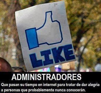 Like facebook página administrador