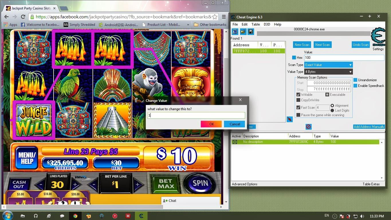 Jackpot party casino cheat engine jim thorpe pa casino