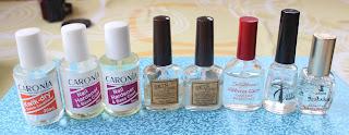 A base coat, top coat a nail hardener