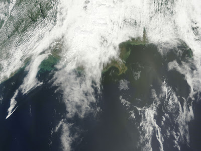 Deepwater Horizon oil spill visible from space
