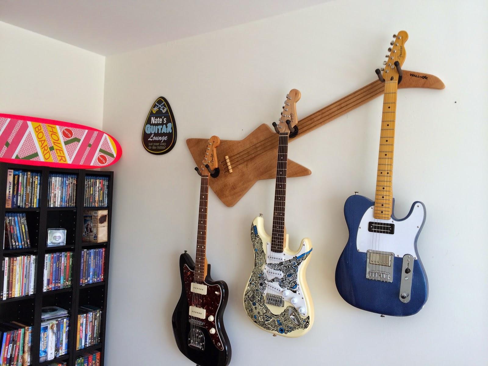 Decorative Wall Hangers wall-axe custom guitar hangers