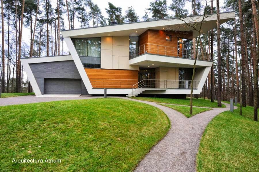 Arquitectura de Casas: Moderna casa residencial rusa de diseño ...