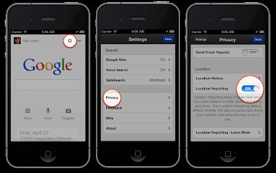 Google Now Location Turn Off