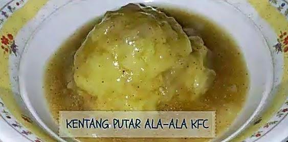 Resepi Kentang Putar ala-ala KFC.