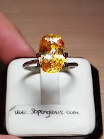 5,94ct NATURAL SUPER GLITERRING YELLOW SAPPHIRE