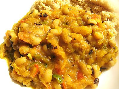 squash curry with beans