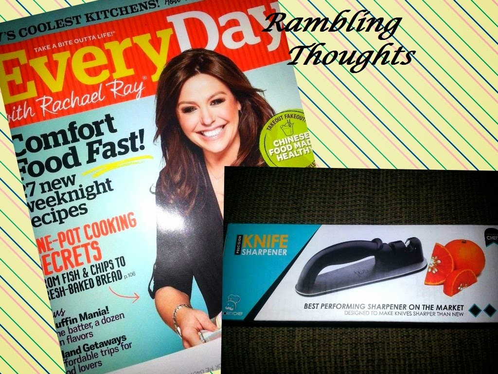 Rambling Thoughts freebies from the mail: EveryDay with Rachel Ray and Precision Knife Sharpener