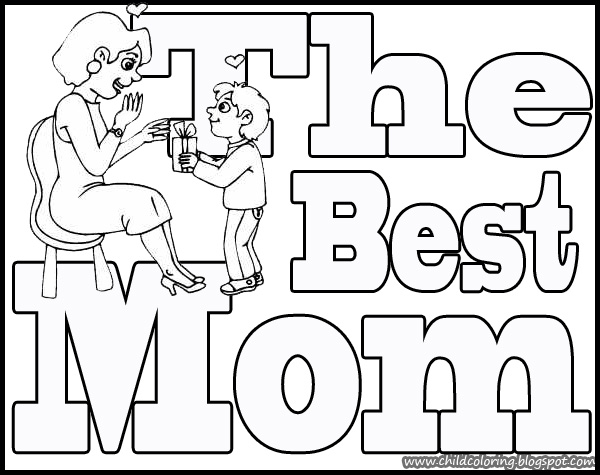 the best mom coloring   child coloring Happy Mother's Day Coloring Pages  Best Mom Coloring Pages