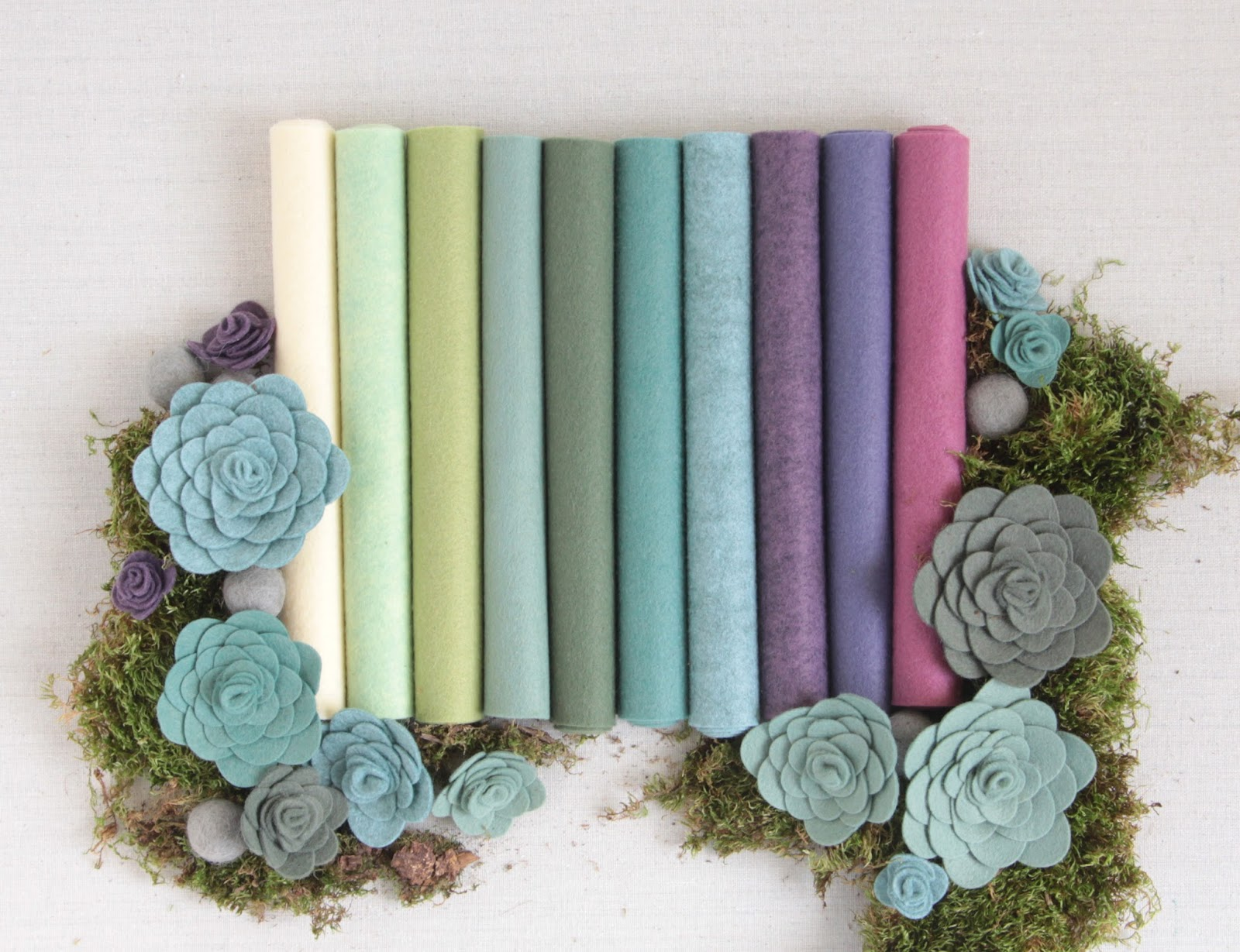 benzie felt succulent collection