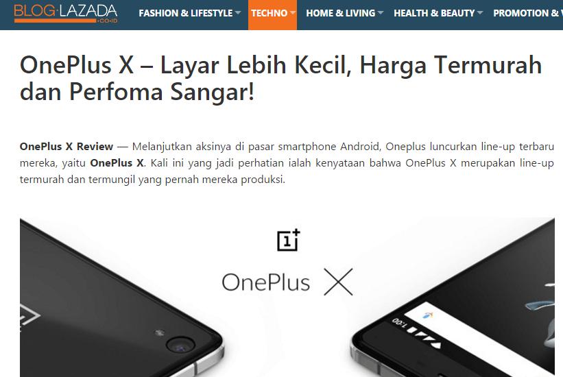 OnePlus X Lazada Resmi
